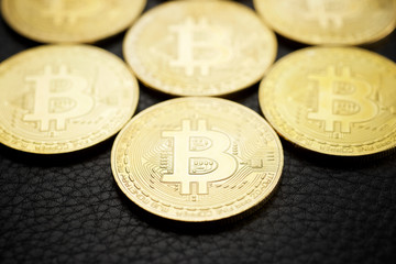 Bitcoins concept view
