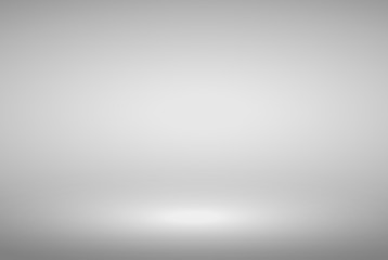 Product Showcase Spotlight Background - Crisp and Clear Infinite Horizon White Floor - Light Scene for Modern Clean Minimalist Design, Widescreen in High Resolution
