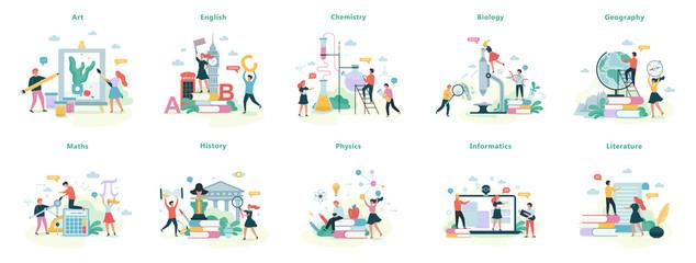 Fototapeta School subject set. Idea of education and science obraz