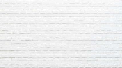 White brick wall texture background for stone tile block painted in grey light color wallpaper modern interior and exterior and backdrop design Wall mural