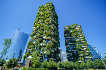 Bosco Verticale (Vertical Forest) in Milan city, Italy