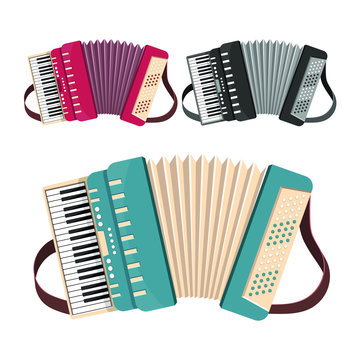 Accordion vector design illustration isolated on white background