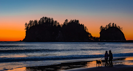 Sunset in La Push, Washington