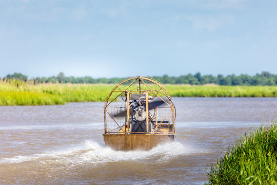 Airboat ride in the swamps of Texas, Gulf of Mexico