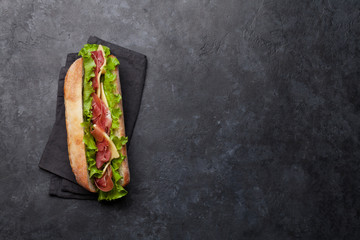 Spoed Fotobehang Snack Fresh submarine sandwich