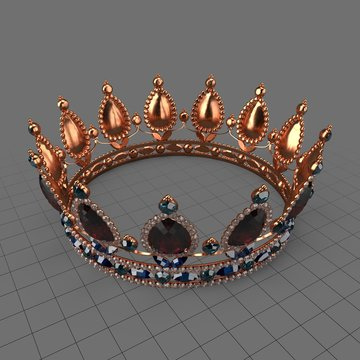 Queen crown with jewels 1