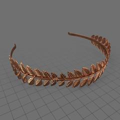 Copper laurel headband
