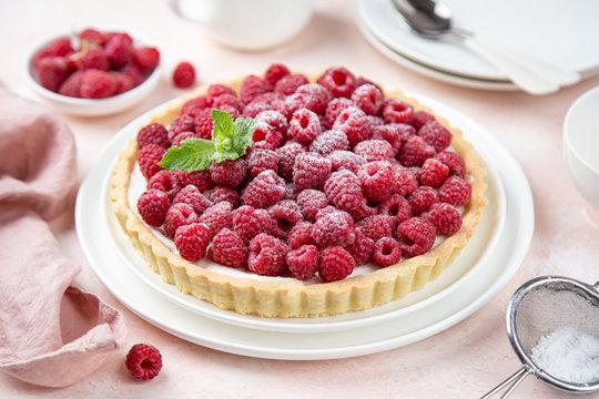 raspberry yogurt tart
