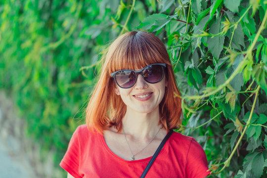 Sunglasses. Portrait of a woman in sunglasses.