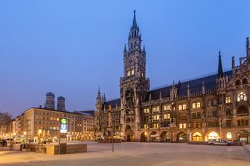 New city hall or Neues Rathaus, Marienplatz, Munich, Bavaria, Germany