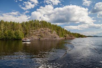 Saimaa lake nearby Savonlinna, Finland