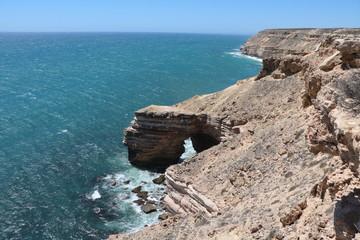 View to the Natural Bridge at Kalbarri National Park, Western Australia Oceania