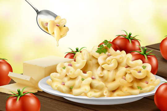 Delicious macaroni with cheese
