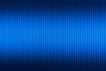 Decorative background blue color, striped texture upper and lower gradient. Wallpaper. Art. Design.