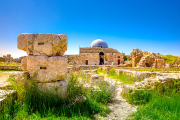 Fototapete - Umayyad Palace at the Amman Citadel, Jordan