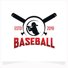 Baseball Logo Design. Emblem Design Template