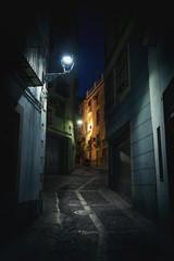 Street of Jaen at night - Jaen, Andalusia, Spain