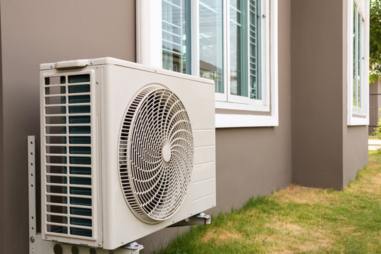 Air conditioner compressor outdoor unit installed outside the house