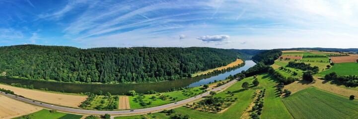 Fototapete - Neckar bei Binau