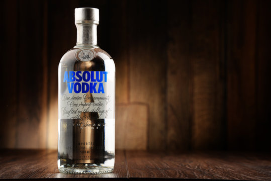 Bottle of Absolut Vodka