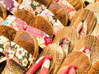 Traditional japanese shoes sandals