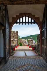 castle gate at Reichenstein Castle