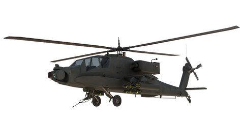 Poster Helicopter AH64 Apache attack Helicopter 3d render