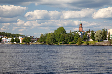 Savonlinna, Southern Savonia, Finland - view from Saimaa lake