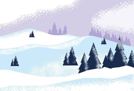 snowscape nature scene nature icon