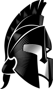 Spartan Helm Calligraphic, Angled View
