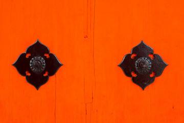 metal decorate at building in Fushimi Inari-taisha shrine in Kyoto,Japan