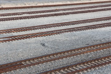 USA railroad tracks
