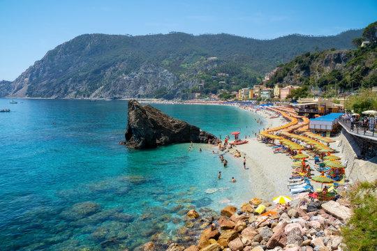Monterosso al Mare town at Cinque Terre, Italy in the summer