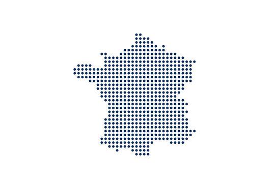 France Dot Map. Digital concept. Vector Design