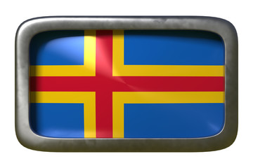 Aland Islands flag sign