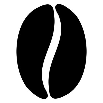 vector illustration of a coffee bean