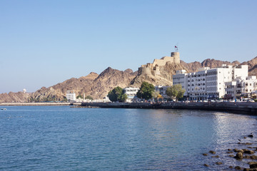Muscat, Oman, sea front view.
