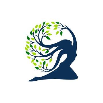 Tree icon logo design template