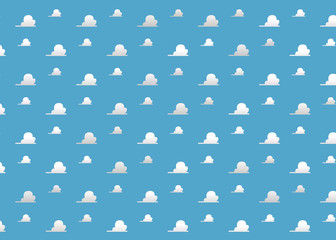 Background Room Kids - Clouds blue Room