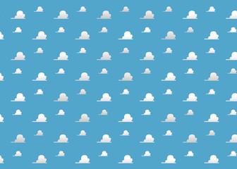 Background Room Kids - Clouds blue Room