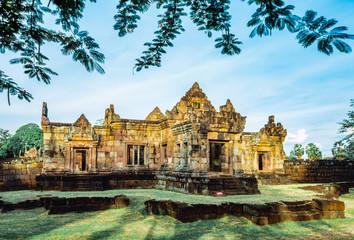 Khmer Architecture of Prasat Muang Tam Castle, Buriram, Thailand Wall mural