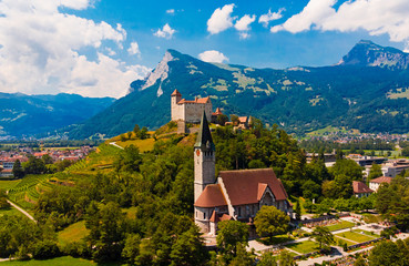 Gutenberg castle in Liechtenstein Europe