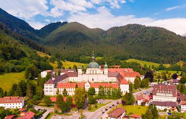 Ettal Abbey Austria Bavaria aerial view