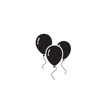 Balloons icon isolated on white background.