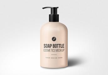 Soap Dispenser Bottle Mockup