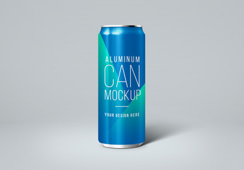 Aluminum Beverage Can Mockup