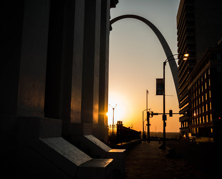 street at dawn