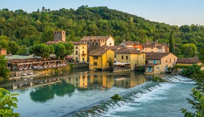 The beautiful village of Borghetto near Valeggio sul Mincio. Province of Verona, Veneto, Italy Fototapete