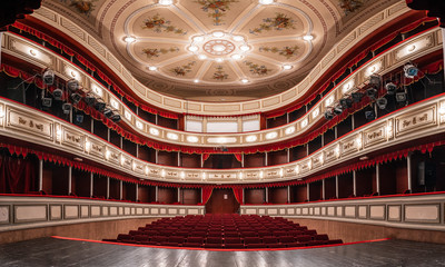 Theater building is 200 years old, a view from the inside