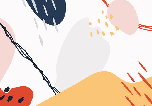 Abstract Colorful Illustrative Elements Set